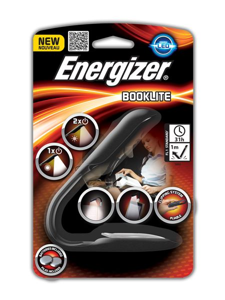 Energizer booklite. A handy, useful light for every day occasions. Totally hand-free for a peace of mind, works with 2x2032 specialty batteries included