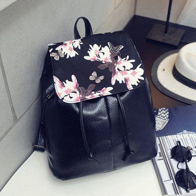 PU Leather Vintage Preppy School Bag