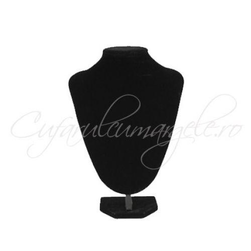Bust coliere velur negru fara burete 17x22 cm - Suporturi bijuterii catifea - SUPORTURI BIJUTERII - Margele si accesorii bijuterii   Cufarul cu Margele