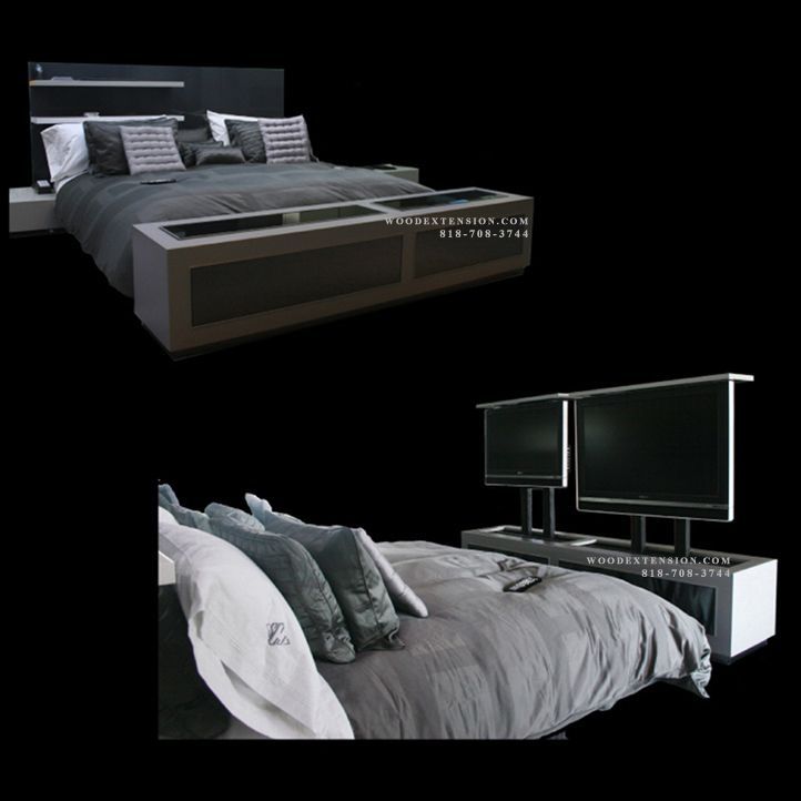 dual tv lift cabinet tv lift furniture for the foot of the bed by scott johnston