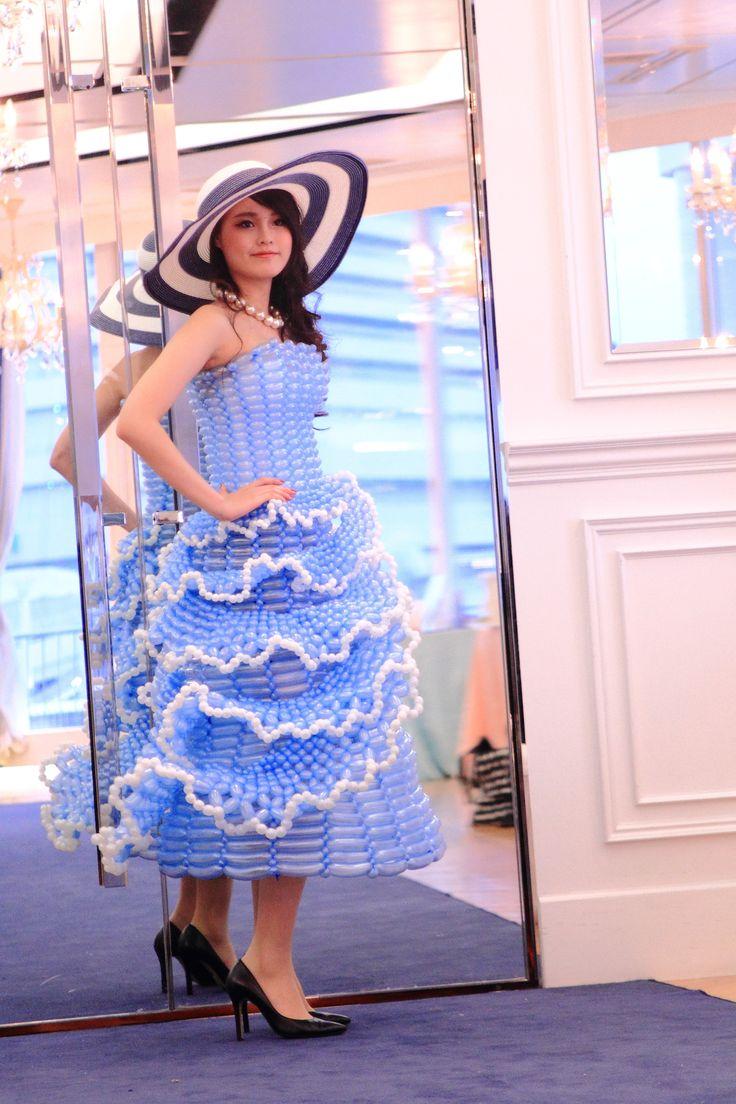 バルーンドレス model  チュアンスポー明梨photographer noriko Balloondress THE TERRACE OF KOBE PACIFIC【Tiara Princess 〜Fashion Show&Beauty Viking〜】