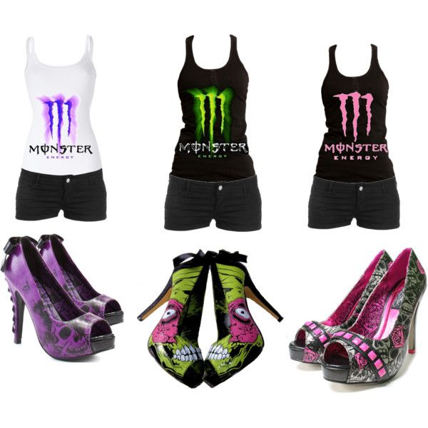 """Monster Energy.Monster Shoes."" by jessika69 on Polyvore"