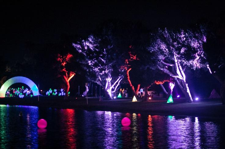 electric run light on water