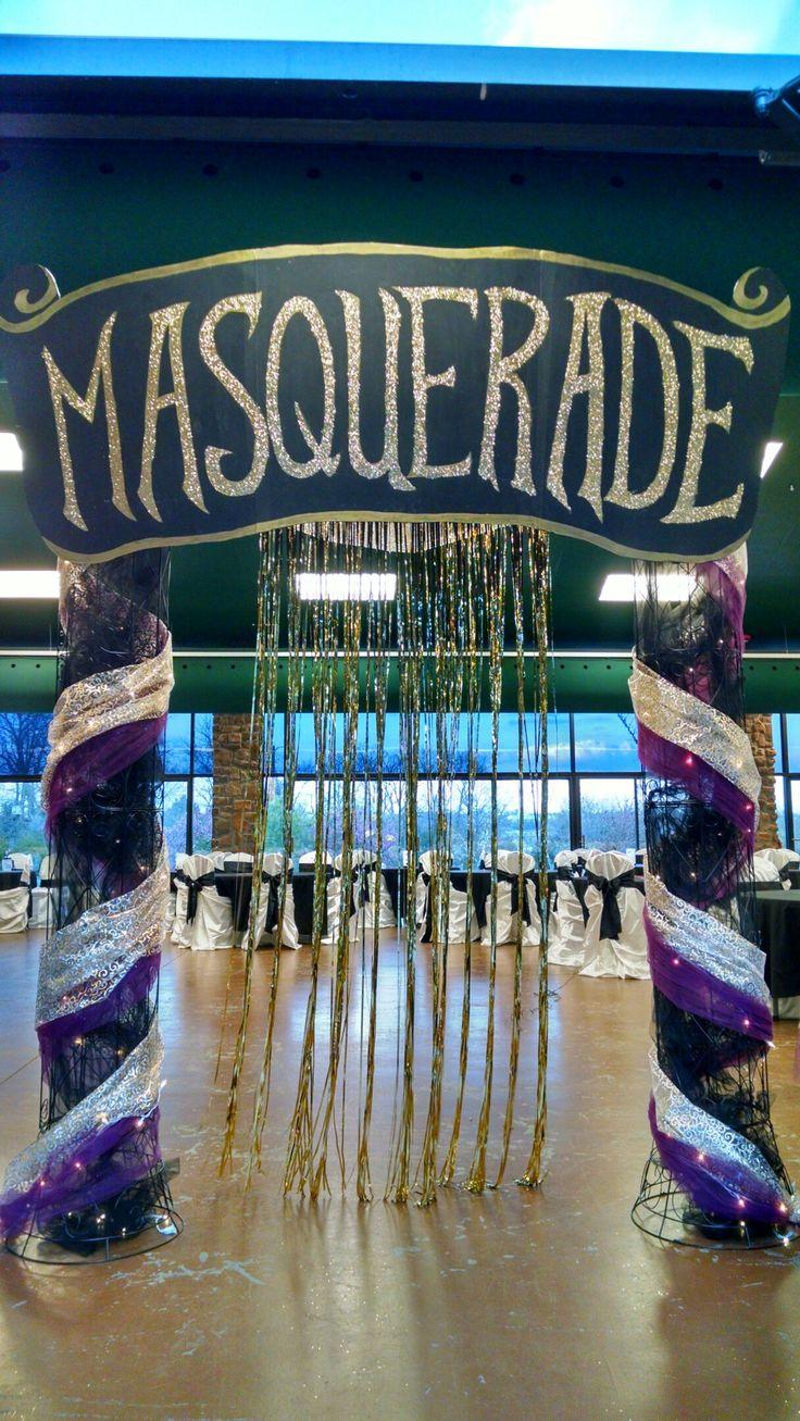 Masquerade Prom entrance