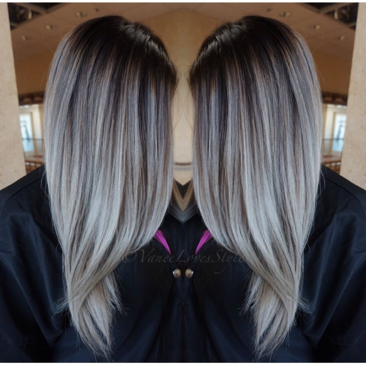 Grey hair Balayage