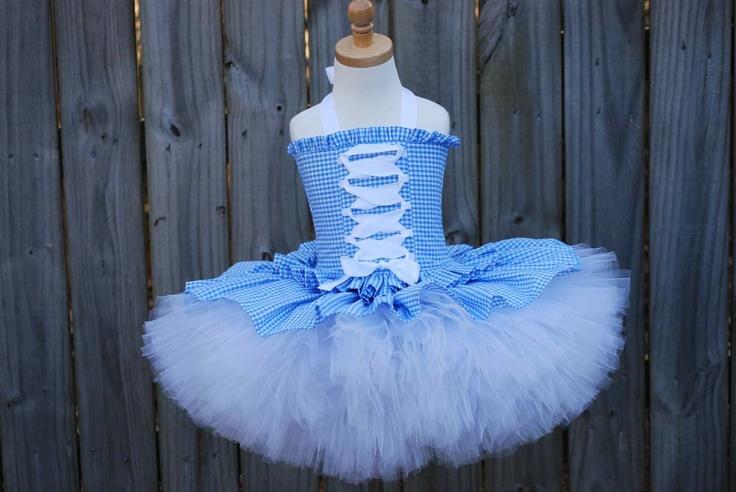 Custom Dorothy Wizard of Oz inspired tutu dress costume