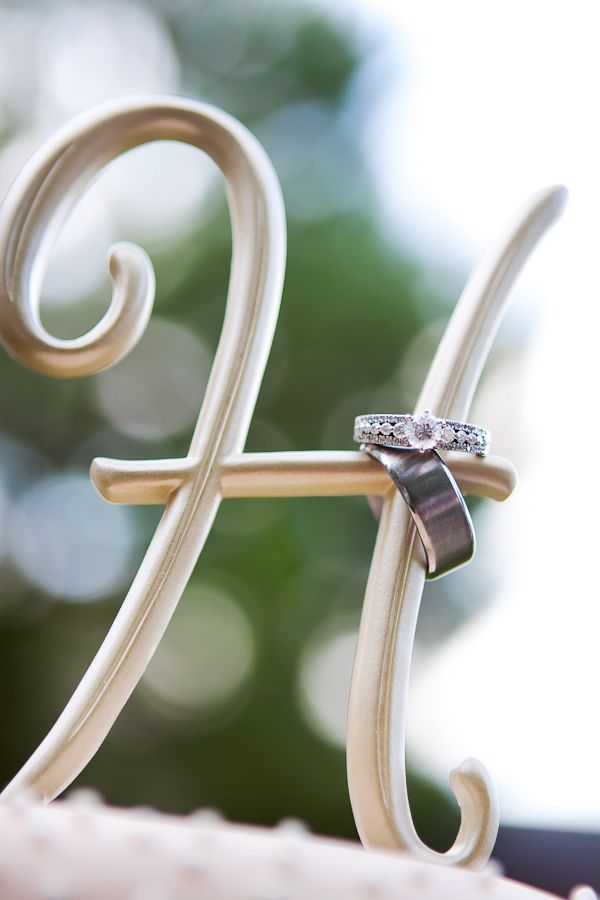 Love this ring shot with the last letter initial