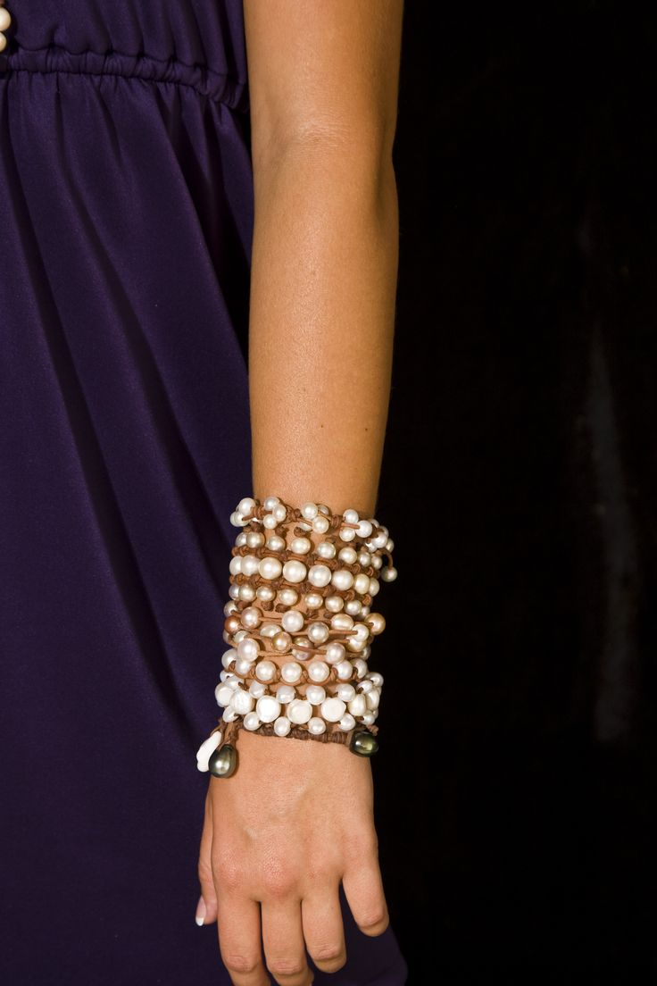 #wendypearls Fine Pearls + Leather Jewelry® wendymignot.com #armcandy #wendypearls absolutely gorgeous