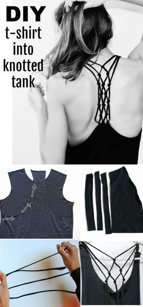 DIY: T-shirt into knotted racerback