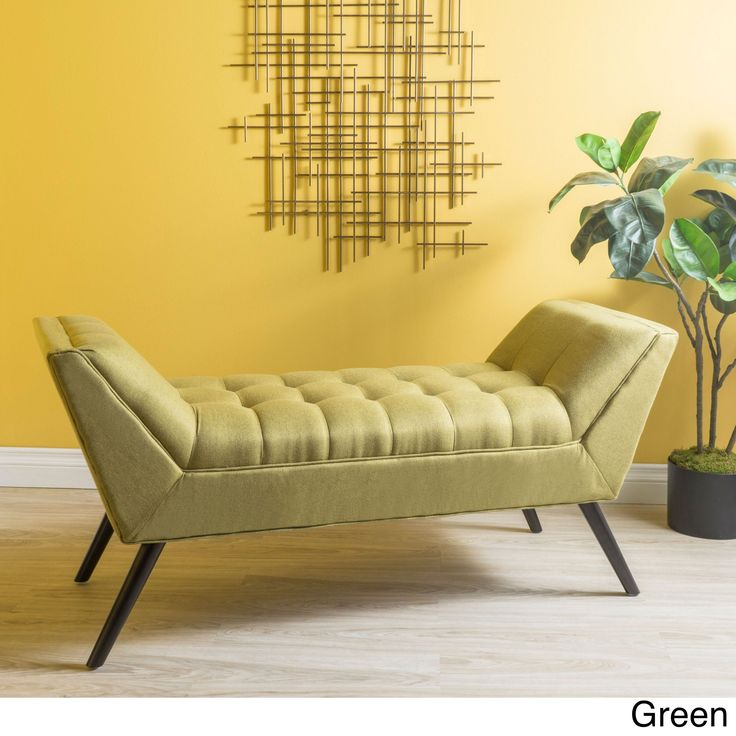 Demi Tufted Fabric Ottoman Bench by Christopher Knight Home (