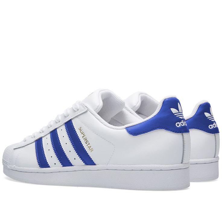 Adidas Superstar Foundation White Blue 03