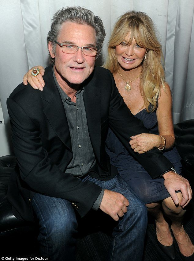 Goldie Hawn. Still smiling, still with a gorgeous fella. Love them both.
