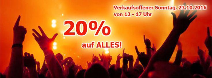Verkaufsoffener Sonntag / 23.10.2016 / 12 - 17 Uhr 20% auf ALLES! Stechen von Piercings, Schmuck, Implantate, Gutscheine! (nicht kombinierbar mit anderen Rabatten/Aktionen) Euer Bizzarre-Team