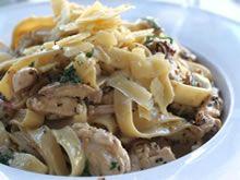 pasta met kip en champignonroomsaus