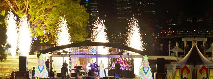 Southbank Christmas Fireworks Brisbane