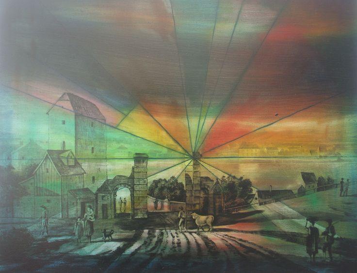 Duncan Swann: Market Day, 2013 #art #painting  #city