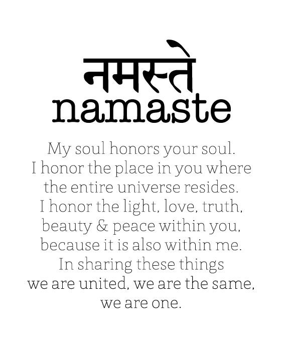 The Power Of Namaste Sanskrit Words How To Write Namaste