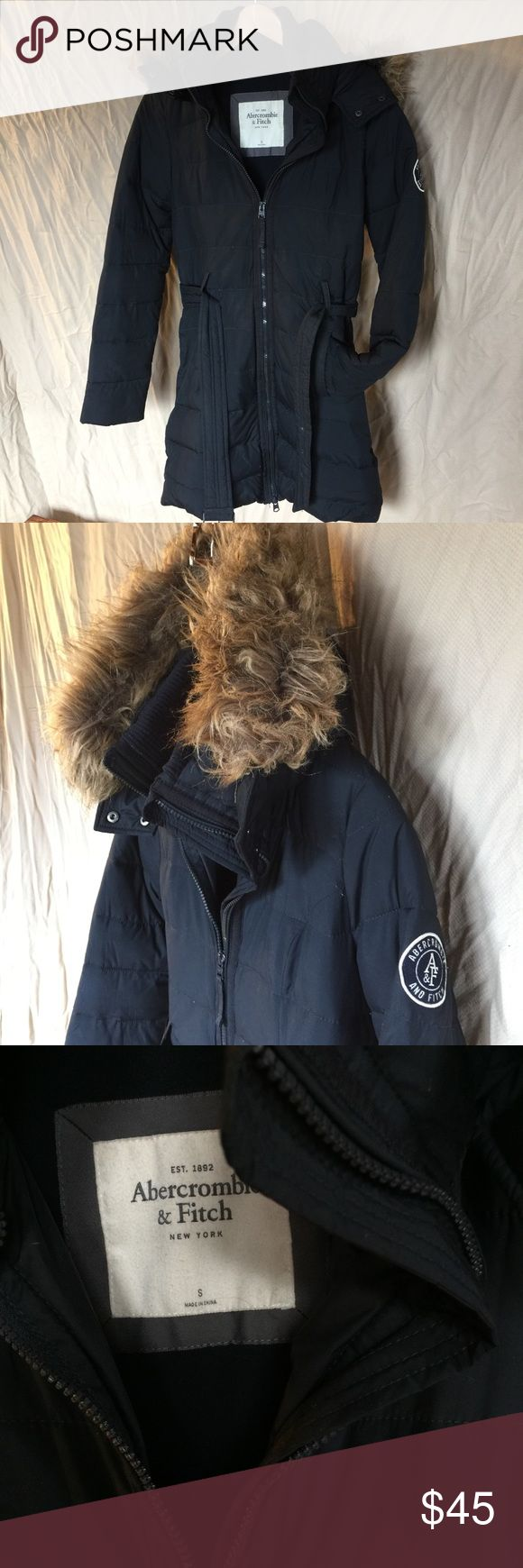 Abercrombie and Fitch Hooded Winter Coat Faux fur hood. New condition.  Brown. Abercrombie & Fitch Jackets & Coats Puffers