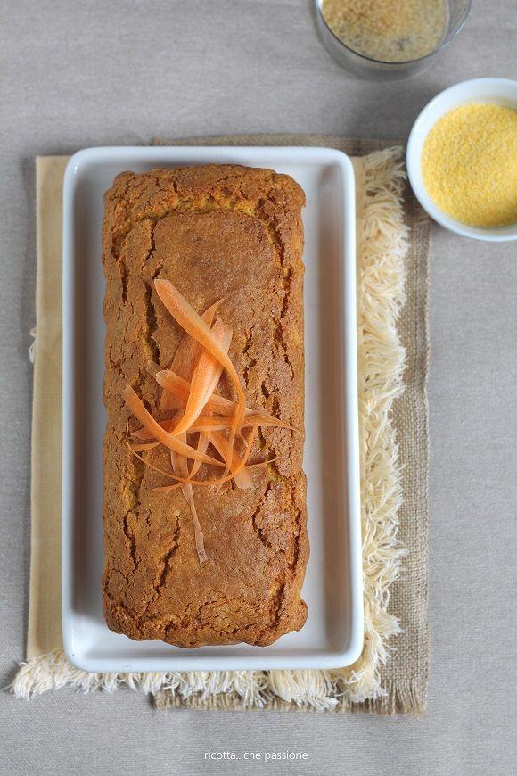 CAKE DI FARINA DI MAIS E CAROTE