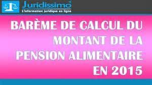 Recherche Calcul du montant des pensions alimentaires. Vues 154954.