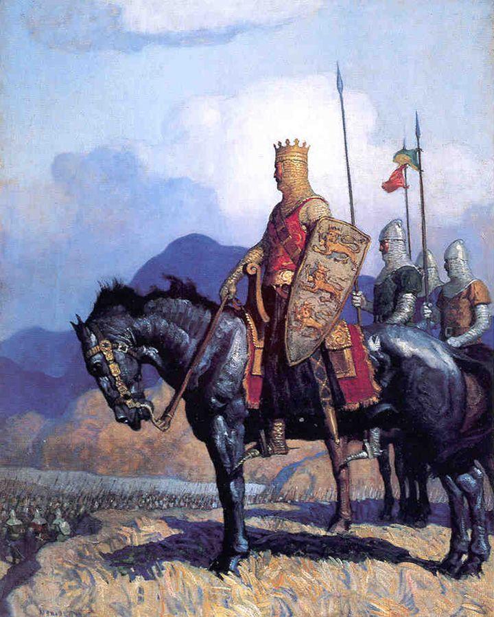 "NC Wyeth ""King Edward,"" illustration from ""The Scottish Chiefs,"" by Jane Porter (1921)"