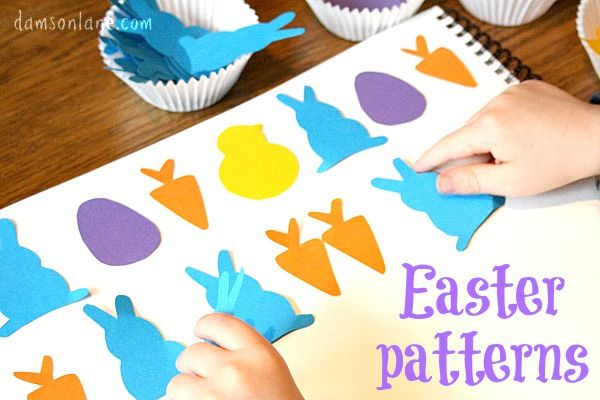 Early Years Maths Sorting and Patterns with an easter theme from damsonlane.com
