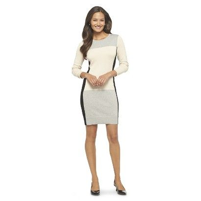Long Sleeve Shift Sweater Dress from Target - sleek and flattering, while staying warm