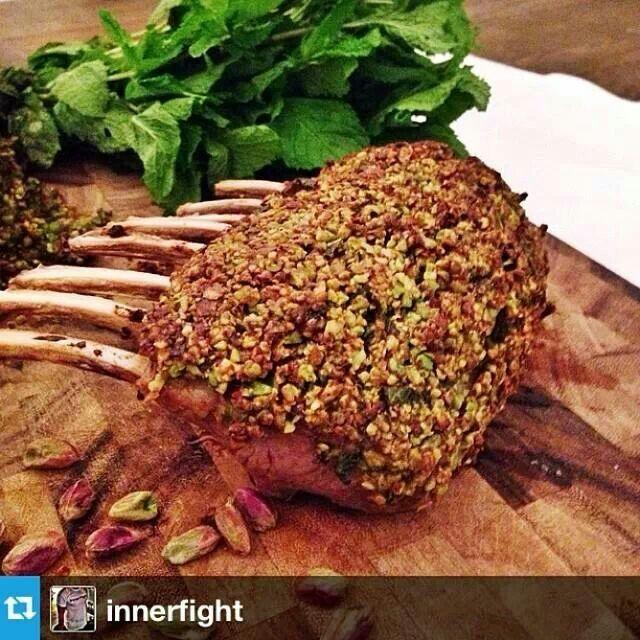 Pistachio crusted rack of lamb - recipe at www.innerfight.com