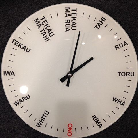 Maori Language Numbers Clock