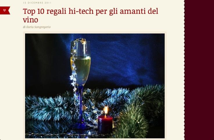 #Regali originali e hi-tech per chi vuole sorprendere un amico appassionato di vino.