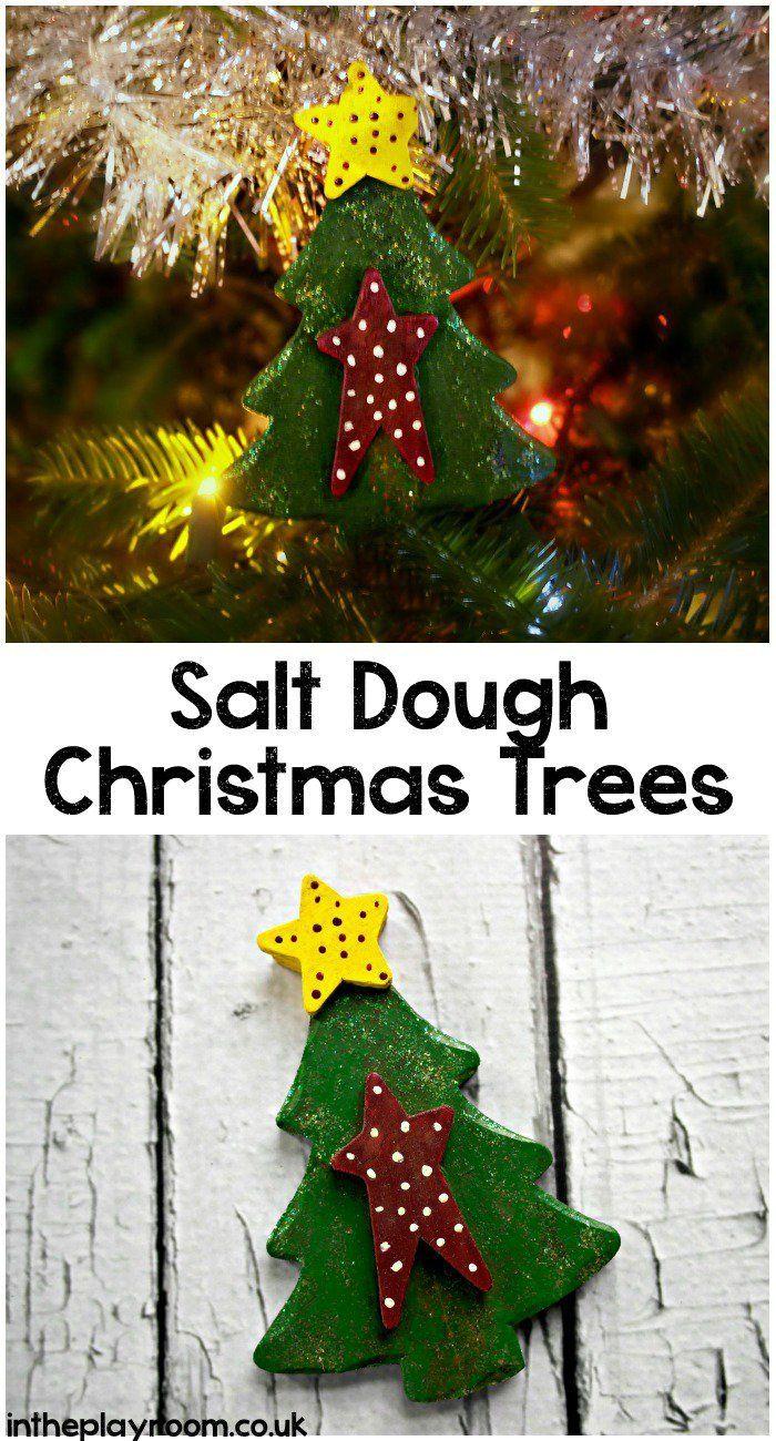 Personalized ornaments for kids - Salt Dough Christmas Tree Decoration