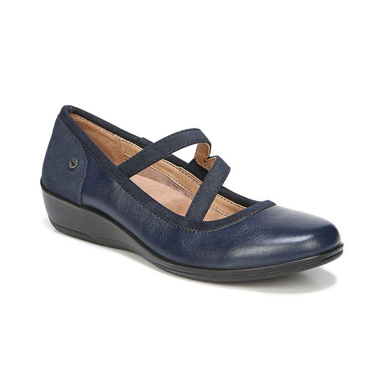 LifeStride Velocity Indira Women's Wedge Mary Jane Shoes, Size: medium (8.5), Dark Blue