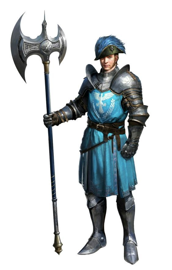 Human Male City Guard Fighter - Pathfinder PFRPG DND D&D d20 fantasy