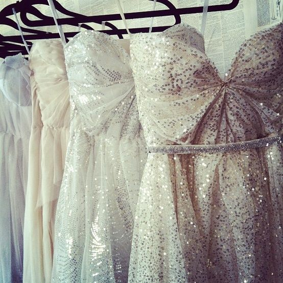 sparkly dresses, I like the neckline but I need straps!