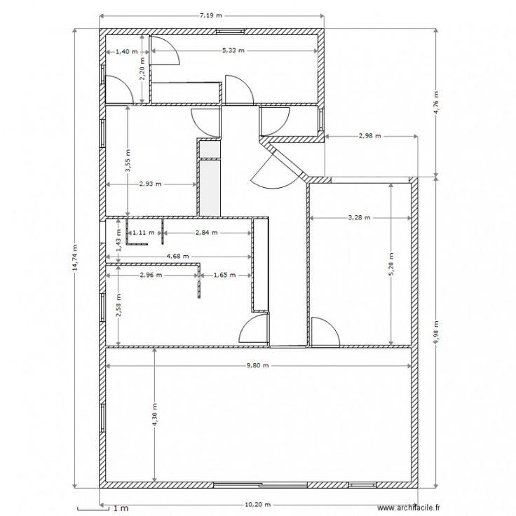 Plan maison avec cotation en 2020 | Plan maison, Plan de maison mitoyenne, Plan de maison luxueuse