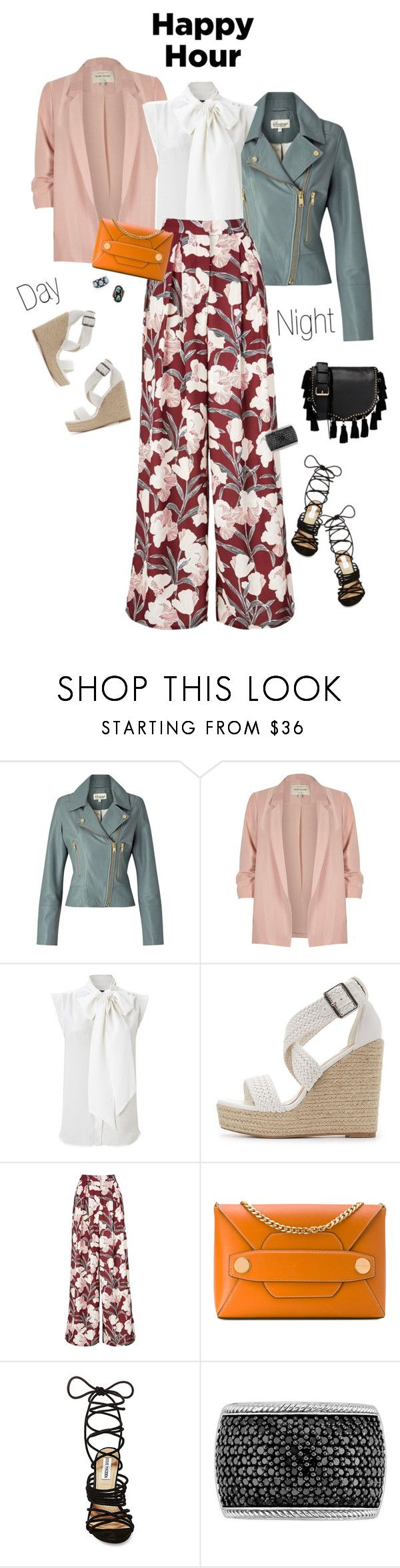 """""""2017: Happy Hour"""" by rockerchick21 ❤ liked on Polyvore featuring Somerset by Alice Temperley, River Island, French Connection, Charlotte Russe, Keepsake the Label, STELLA McCARTNEY, Steve Madden and Rebecca Minkoff"""