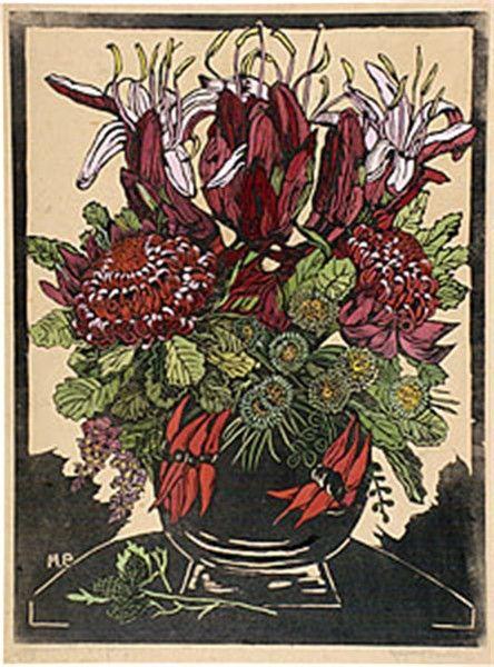 Margaret Preston - Illawarra lilies and waratahs, 1929