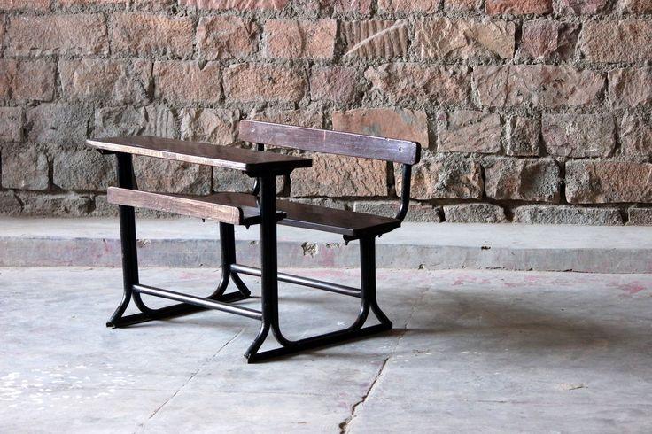 Mahak 'Old School' Childrens School Desk and Bench