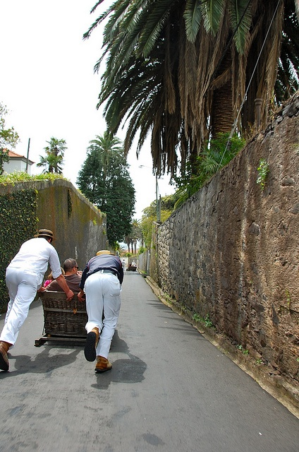 Monte, Madeira, Portugal. OMG I saw how they went down the road deep down , no way I will go there. My aunt tried to get me in one of those car.. The only thing I did was have a picture taken.. Nothing else lol