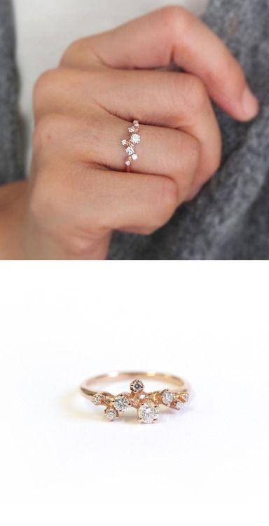 "nandanewyork: ""R057 14K Rose Gold with 0.3ct (total) Budding Diamond Ring http://nandanewyork.bigcartel.com/product/r057 """