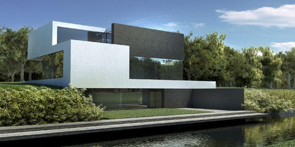 Dom nad jeziorem / The Lake House by S3NS Architektura - Igor Kazmierczak, via Behance