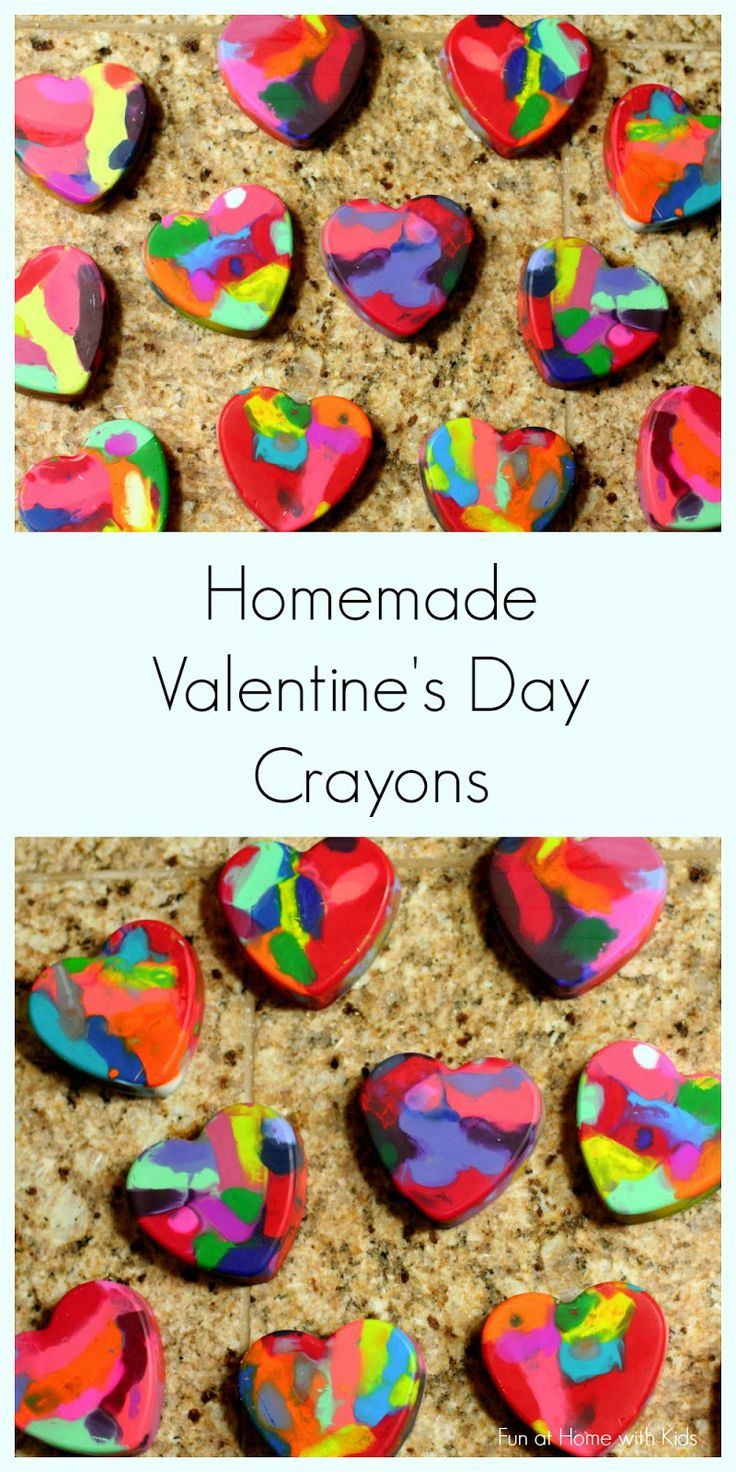 Not only the kids will love these cute V-Day Crayons.....