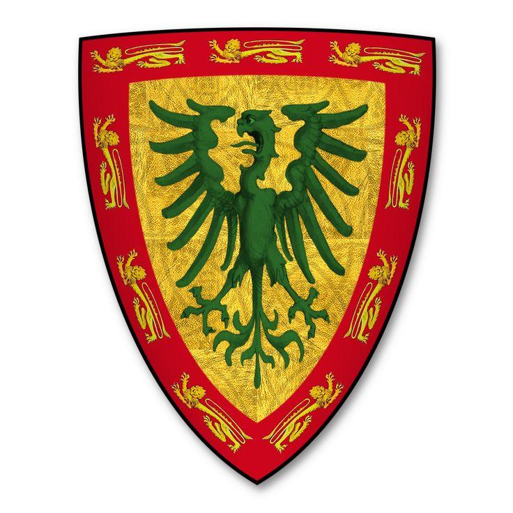 Coat of arms of Sir Edward Monthermer, of Ashmole, temp Edward II