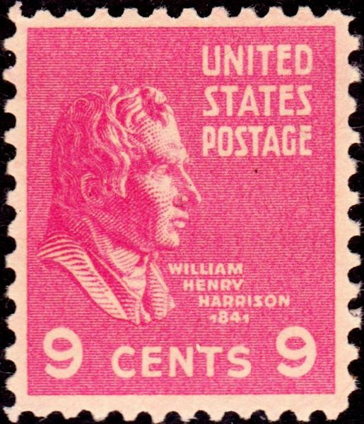 William Henry Harrison2 1938 Issue-9c - On June 2, 1890 the US Post Office issued a brown 5-cent Postage stamp honoring Ulysses S. Grant. It was the first US Postage stamp to depict the former President and Civil War General. This issue was released exactly twenty-five years after Gen. Edmond Kirby Smith's surrender of the last major Confederate army at Galveston, Texas, on June 2, 1865. The issue was printed by the American Bank Note Company.[43]