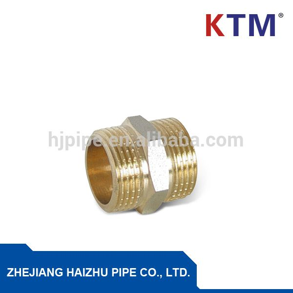 """BRASS FITTING, PIPE FITTING, NIPPLE FOR CONNECTING PEX-AL-PEX PIPE"""