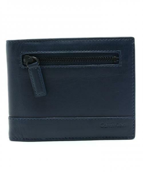 Calvin Klein men(カルバン・クライン メン)のスムースナッパ2つ織り財布(財布) ネイビー系