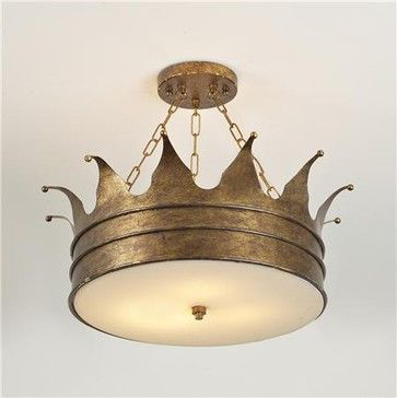 Brinkleys room-Crown Ceiling Light - eclectic - ceiling lighting - Shades of Light