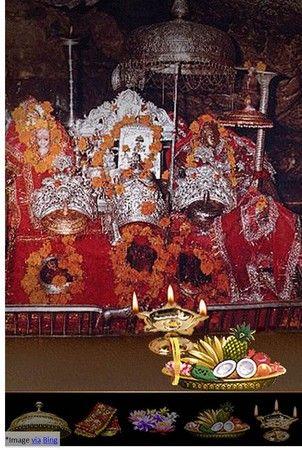 Mata Vaishno Devi Shrine of Faith. The caves of Goddess are in holy Bhawan where three holy pindies forms of Goddess Mahakali, Maha Lakshmi and Mata Saraswati are there for ultimate Darshan, thus culminating Yatra of Mata Vaishno Devi. Praise be with Goddess-Jai Mata Di.