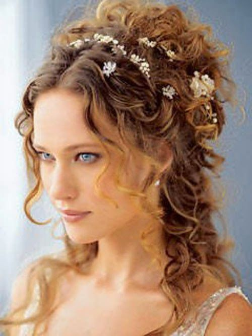 wedding hairstyles for curly hair WeddingHair. Without the flowers. Love it :)