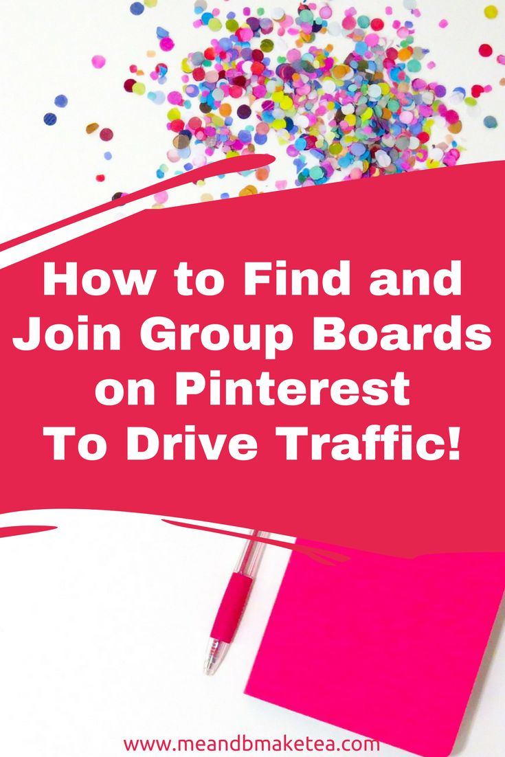 How to Find and Join Group Boards on Pinterest to Drive Website Traffic! #pinterestmarketing #pinterestmarketingtips